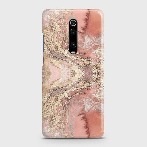 Trendy Chic Rose Gold Marble 3D Case For Xiaomi Redmi K20