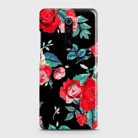 Luxury Vintage Red Flowers Case For Xiaomi Redmi K20