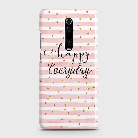 Xiaomi Redmi K20 Cover - Trendy Happy Everyday Printed Hard Case with Life Time Colors Guarantee