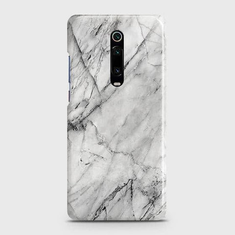 Xiaomi Redmi K20 Cover - Trendy White Floor Marble Printed Hard Case with Life Time Colors Guarantee