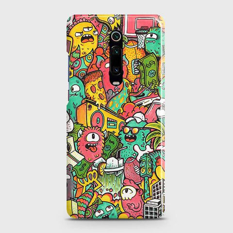 Candy Colors Trendy Sticker Bomb Case For Xiaomi Redmi K20