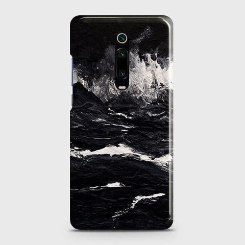 3D Black Ocean Marble Trendy Case For Xiaomi Redmi K20
