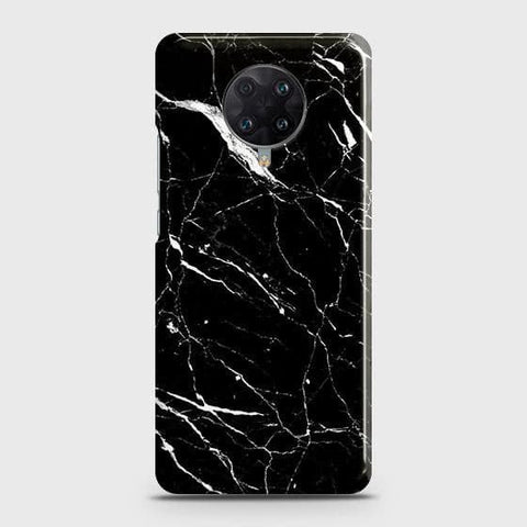 Xiaomi Redmi K30 Ultra Cover - Trendy Black Marble Printed Hard Case with Life Time Colors Guarantee