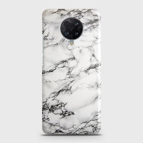 Xiaomi Redmi K30 Ultra Cover - Trendy White Floor Marble Printed Hard Case with Life Time Colors Guarantee