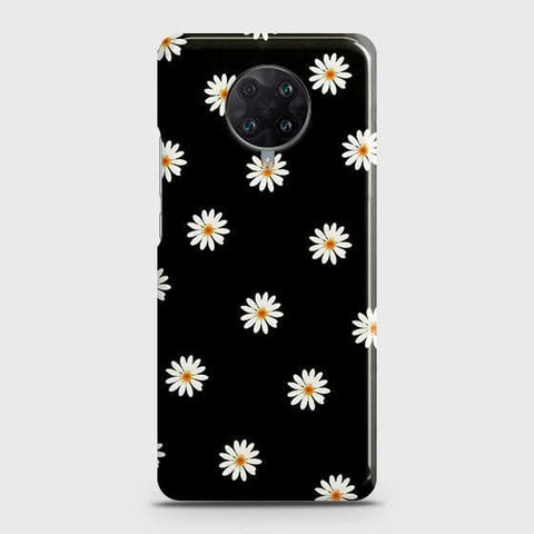 Xiaomi Redmi K30 Ultra Cover - White Bloom Flowers with Black Background Printed Hard Case with Life Time Colors Guarantee