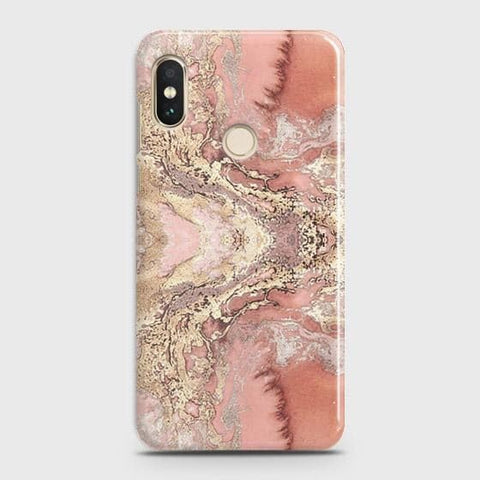 Trendy Chic Rose Gold Marble 3D Case For Xiaomi Redmi Note 5 Pro