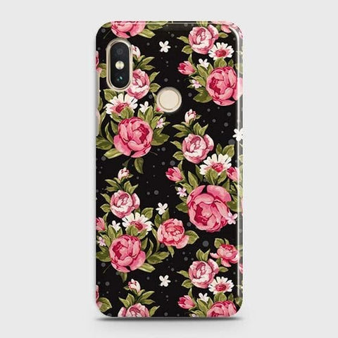 Trendy Pink Rose Vintage Flowers Case For Xiaomi Redmi Note 5 Pro