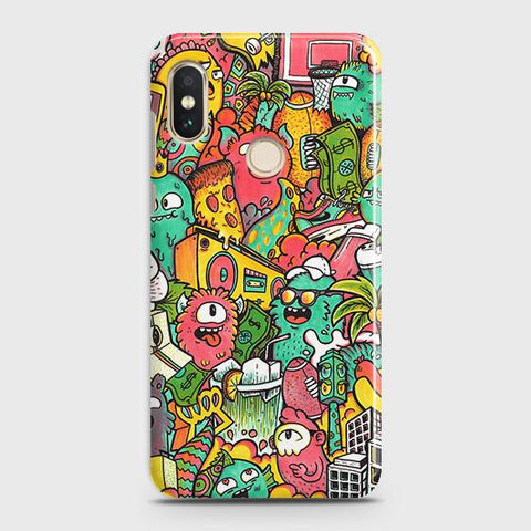 Candy Colors Trendy Sticker Bomb Case For Xiaomi Redmi Note 5 Pro