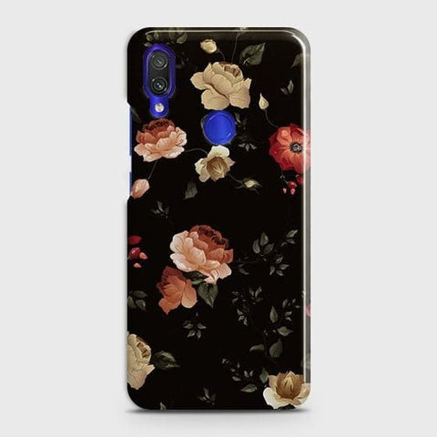 Dark Rose Vintage Flowers 3D Print Case For Xiaomi Redmi Note 7