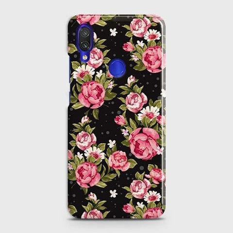 Trendy Pink Rose Vintage Flowers Case For Xiaomi Redmi Note 7
