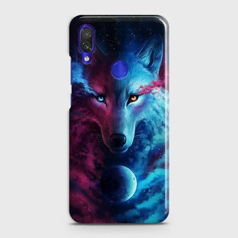 Xiaomi Redmi Note 7 ProCover - Infinity Wolf Trendy Printed Hard Case with Life Time Colors Guarantee