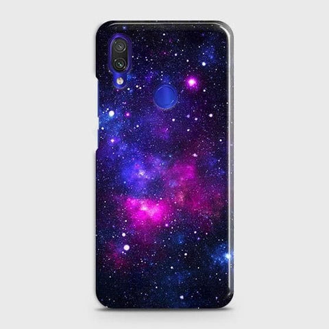 Xiaomi Redmi Note 7 Pro Cover - Dark Galaxy Stars Modern Printed Hard Case with Life Time Colors Guarantee