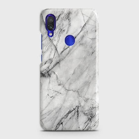 Xiaomi Redmi Note 7 Pro Cover - Trendy White Floor Marble Printed Hard Case with Life Time Colors Guarantee