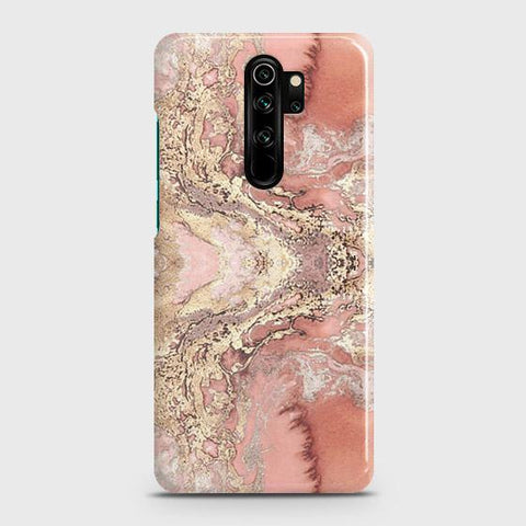 Trendy Chic Rose Gold Marble 3D Snap On Case For Xiaomi Redmi Note 8 Pro