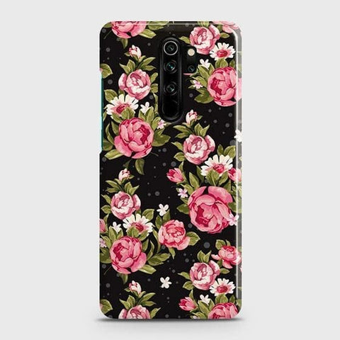 Trendy Pink Rose Vintage Flowers Snap On Case For Xiaomi Redmi Note 8 Pro