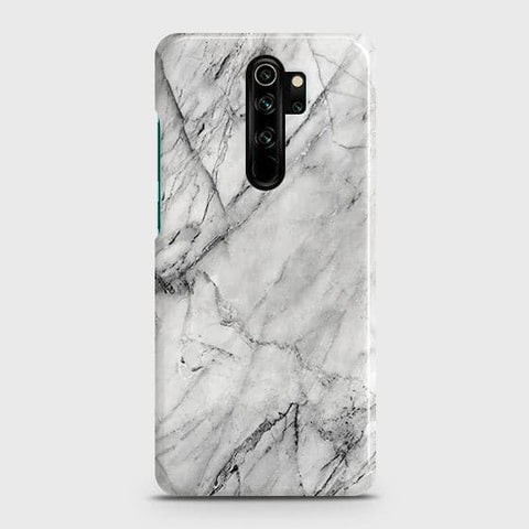 Trendy White Marble Snap On Case For Xiaomi Redmi Note 8 Pro