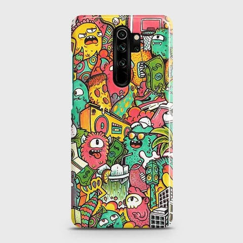Candy Colors Trendy Sticker Bomb Snap On Case For Xiaomi Redmi Note 8 Pro