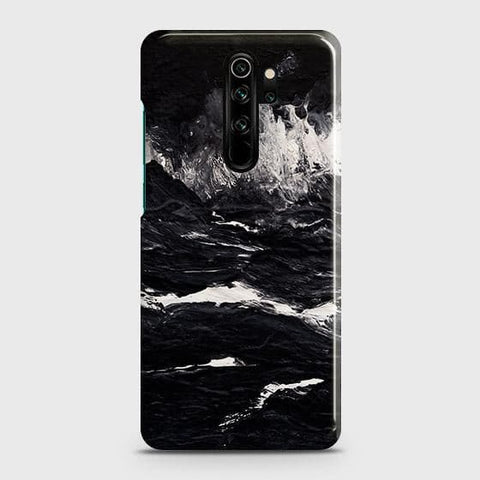 3D Black Ocean Marble Trendy Snap On Case For Xiaomi Redmi Note 8 Pro