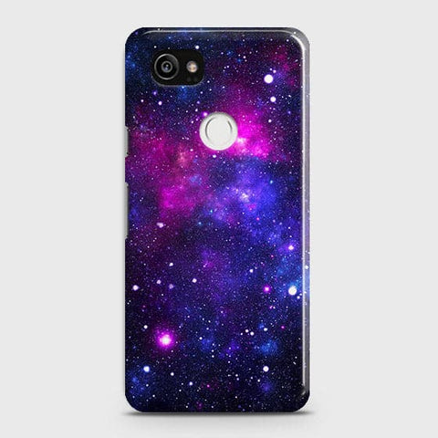 Google Pixel 2 XL - Dark Galaxy Stars Modern Printed Hard Case