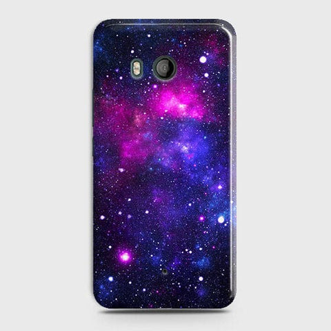 HTC U11 - Dark Galaxy Stars Modern Printed Hard Case