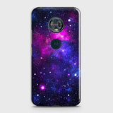 Motorola E5 Plus - Dark Galaxy Stars Modern Printed Hard Case