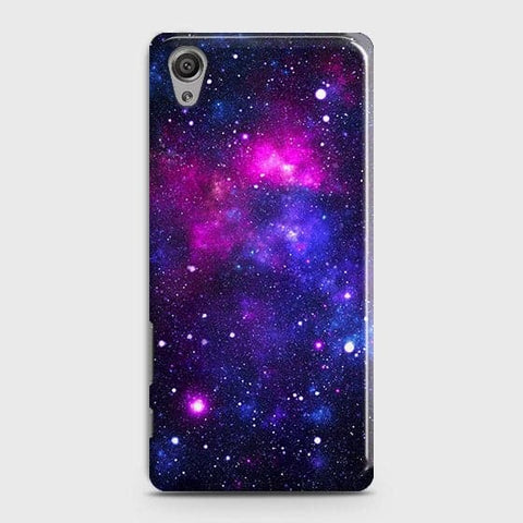 Sony Xperia XA - Dark Galaxy Stars Modern Printed Hard Case