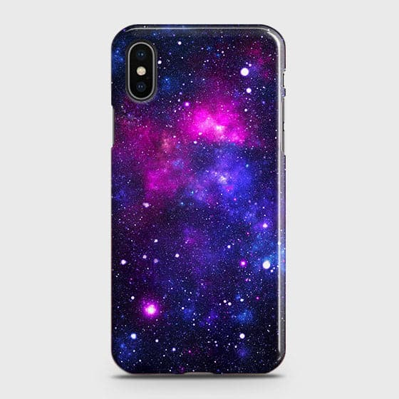 iPhone XS - Dark Galaxy Stars Modern Printed Hard Case