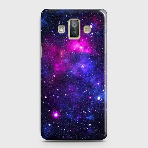 Samsung Galaxy J7 Duo - Dark Galaxy Stars Modern Printed Hard Case