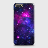 Huawei Y6 2018 - Dark Galaxy Stars Modern Printed Hard Case