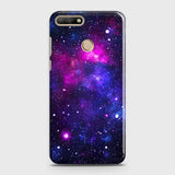 Huawei Y7 2018 - Dark Galaxy Stars Modern Printed Hard Case