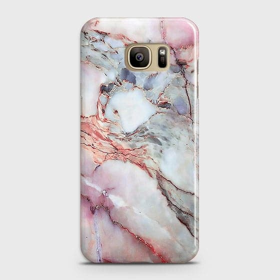 Samsung Galaxy S7 - Violet Sky Marble Trendy Printed Hard Case