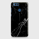 Huawei Honor 7X - Black Modern Classic Marble Printed Hard Case