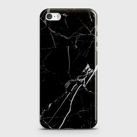 iPhone 5 & iPhone SE - Black Modern Classic Marble Printed Hard Case