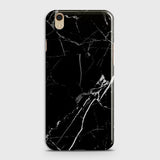 Oppo F1 Plus / R9 - Black Modern Classic Marble Printed Hard Case