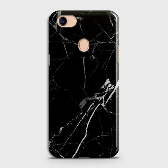 Oppo F5 / F5 Youth - Black Modern Classic Marble Printed Hard Case