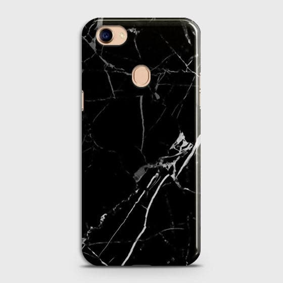 Oppo F7 - Black Modern Classic Marble Printed Hard Case