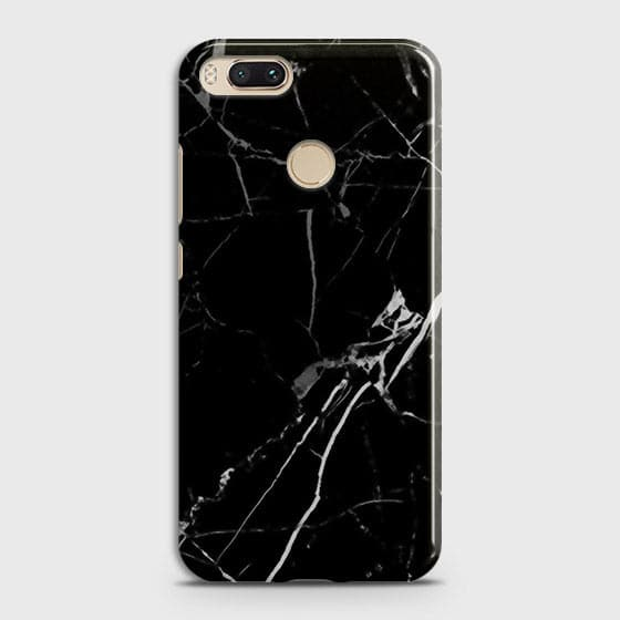 Printed Black Modern Classic Marble Case with Life Time Color Guarantee For Xiaomi Mi A1