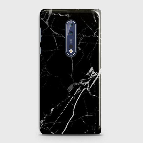 Black Modern Classic Marble Case For Nokia 8