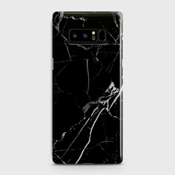 Samsung Galaxy Note 8 - Black Modern Classic Marble Printed Hard Case