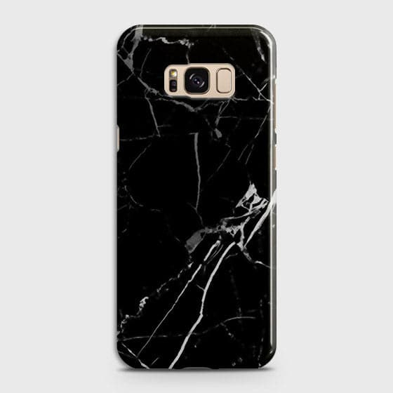 Samsung Galaxy S8 Plus - Black Modern Classic Marble Printed Hard Case