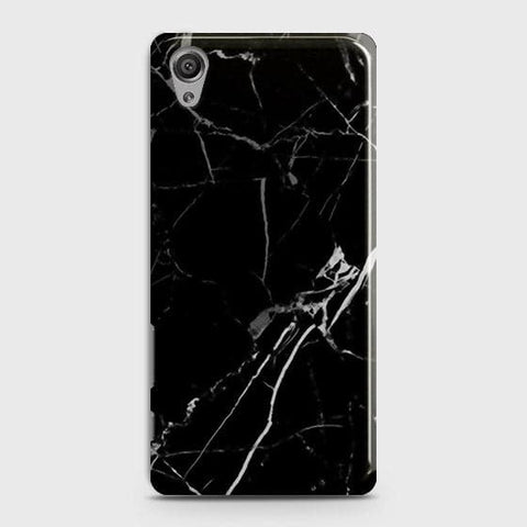 Black Modern Classic Marble Case For Sony Xperia XA