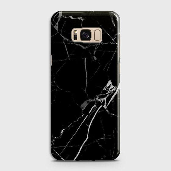 Black Modern Classic Marble Case For Samsung Galaxy S8
