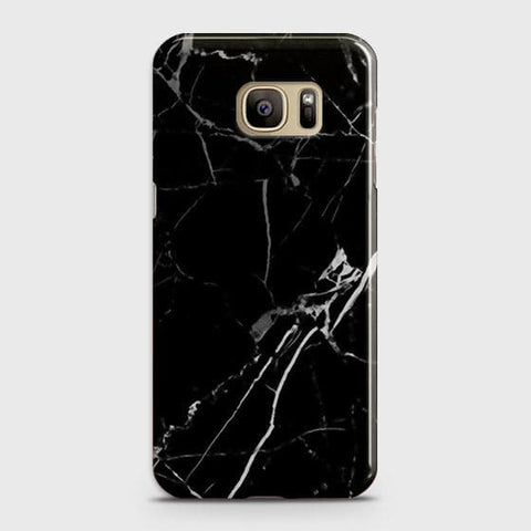 Black Modern Classic Marble Case For Samsung Galaxy S7 Edge