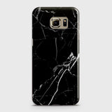 Samsung Galaxy S6 - Black Modern Classic Marble Printed Hard Case