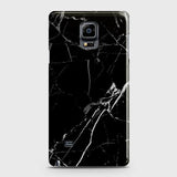 Samsung Galaxy Note 4 - Black Modern Classic Marble Printed Hard Case