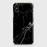 iPhone XS Max - Black Modern Classic Marble Printed Hard Case
