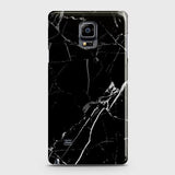 Samsung Galaxy Note Edge - Black Modern Classic Marble Printed Hard Case
