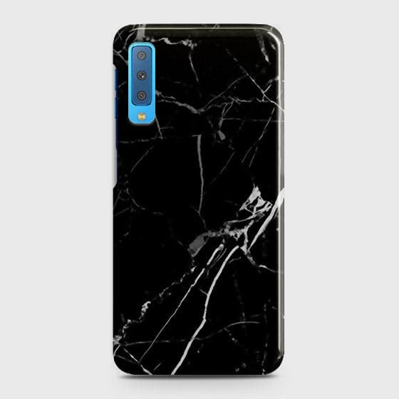 Black Modern Classic Marble Case For Samsung A7 2018