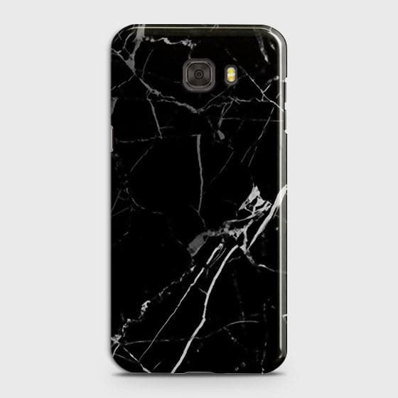 Samsung C9 Pro - Black Modern Classic Marble Printed Hard Case