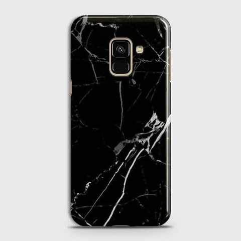 Black Modern Classic Marble Case For Samsung A8 Plus 2018